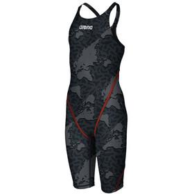 arena Powerskin ST 2.0 Map Illusion Body Suit Women, grigio